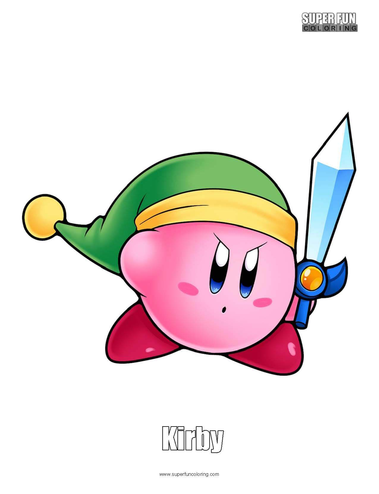 Kirby Coloring Sheet