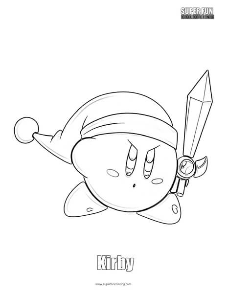 Kirby Coloring Page Nintendo