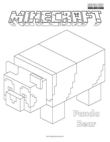 Panda Bear Minecraft Coloring