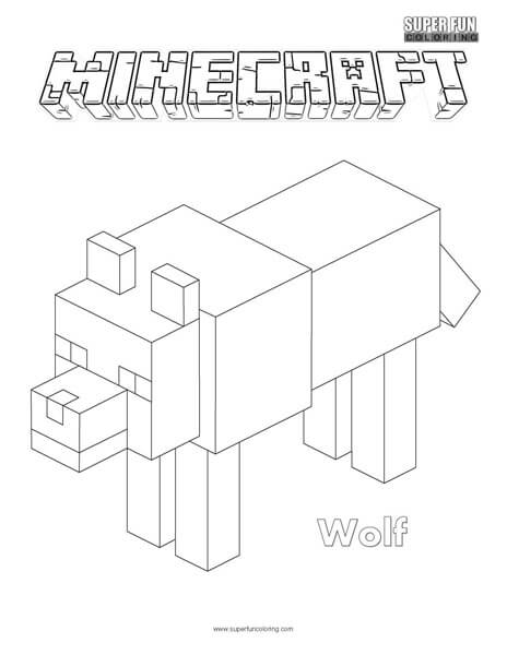 Wolf Minecraft Coloring