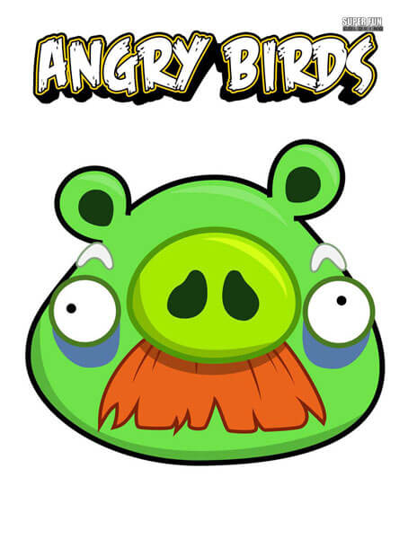 Foreman Pig Angry Birds Coloring Page