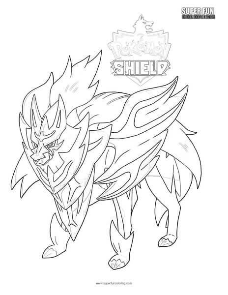Pokemon Shield Pokemon Coloring Page