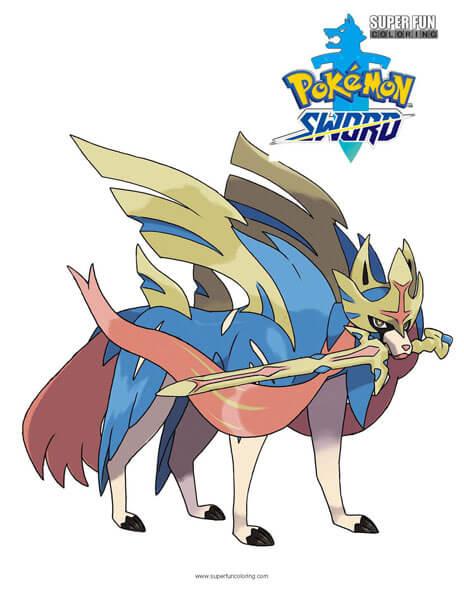 Pokemon Sword Coloring Page