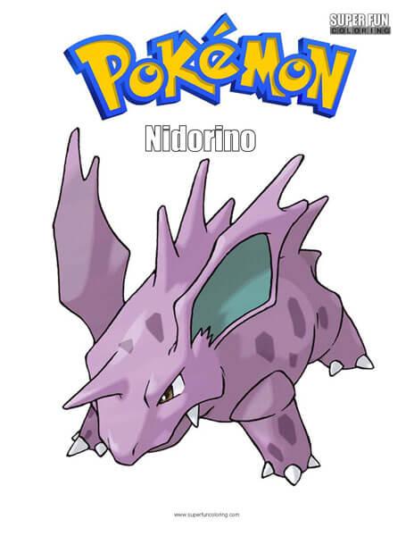 Nidorino Pokemon Coloring Page