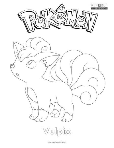 Vulpix  Pokemon Coloring Page