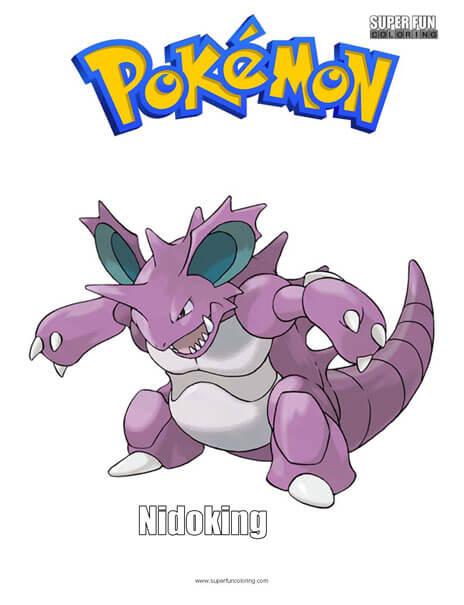 Nidoking Pokemon Coloring Page