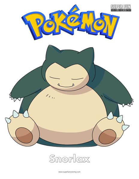 Snorlax Coloring Page