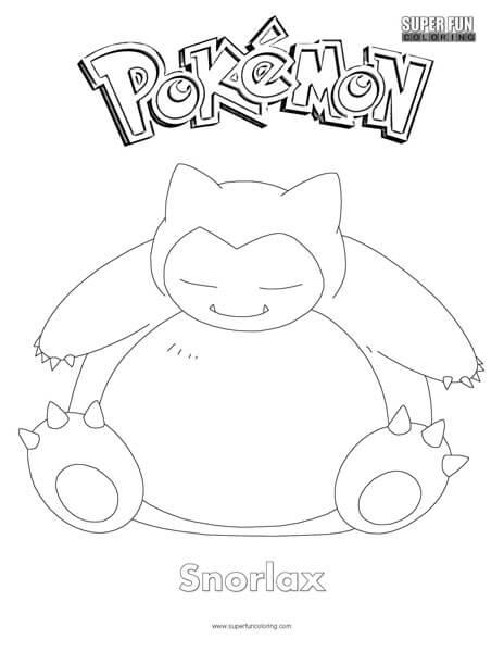 Snorlax Pokemon Coloring Page