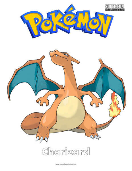 Charizard Coloring Page