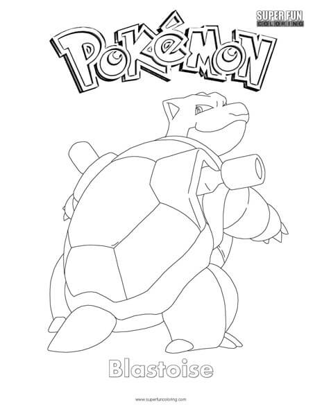 Blastoise Pokemon Coloring Page