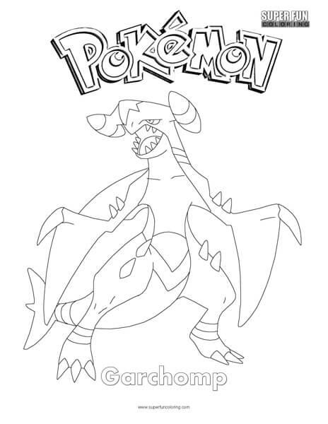 Garchomp Pokemon Coloring Page