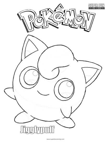 Jigglypuff Free Pokemon Coloring Page