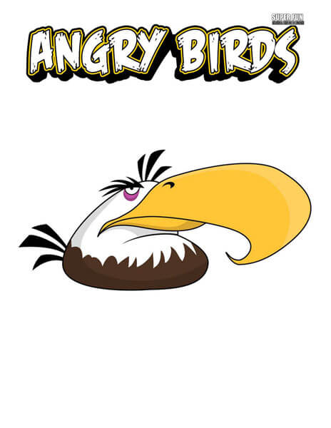 Mighty Eagle Angry Birds Coloring Page