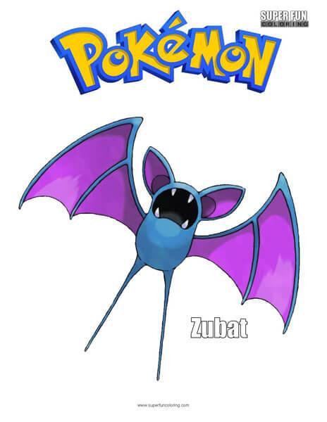 Zubat Pokemon Coloring Page