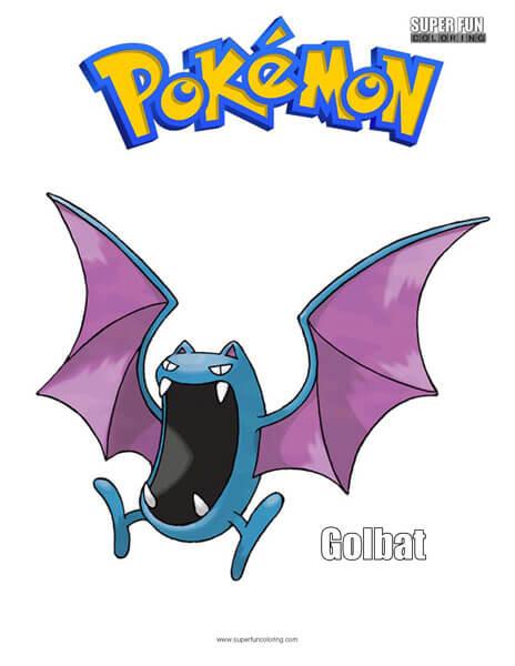 Golbat Pokemon Coloring Page