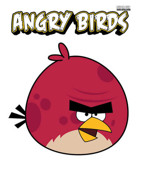 Terence Angry Birds Coloring Page