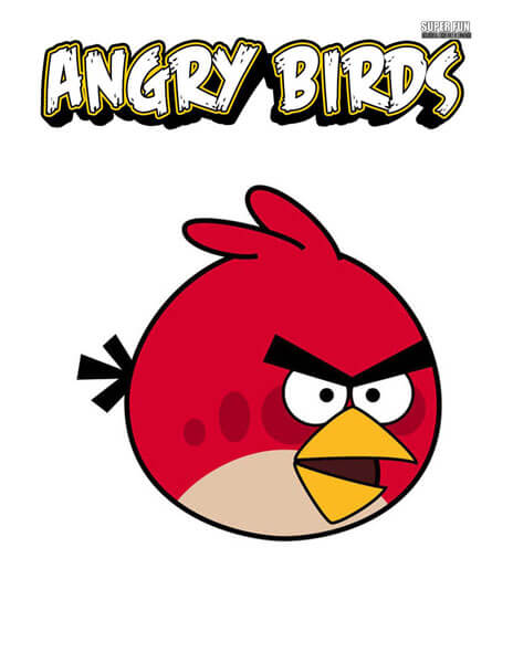 Red Bird Angry Birds Coloring Page