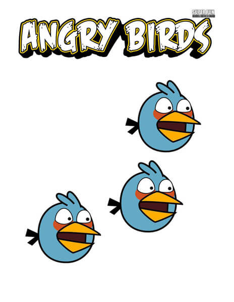 The Blues Angry Birds Coloring Page