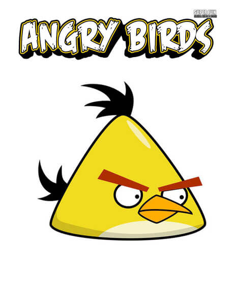 Yellow Bird Angry Birds Coloring Page
